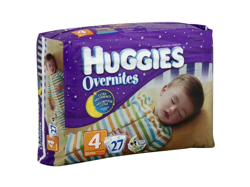 Huggies Overnites Diapers, Size 4 (22-37 lbs.), Jumbo Pack, 27 ct, best overnight diapers