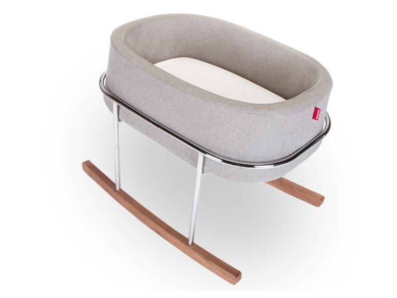 Monte Design Rockwell Bassinet Modern (Heather Grey Basket)
