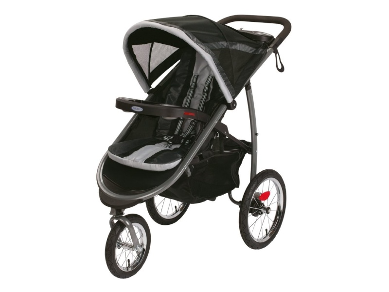 Graco Fastaction Fold Jogger Click Connect Stroller, Gotham, best jogging stroller for runners