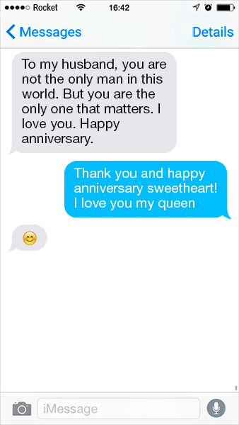 Anniversary quotes for him - To my husband