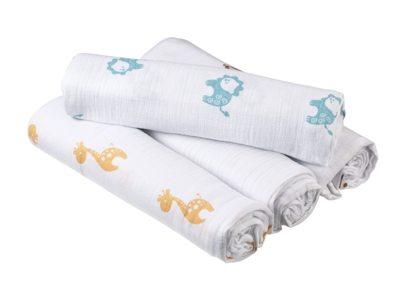 Aden by Aden + Anais Swaddleplus Safari Friends, 4 Count best baby blankets