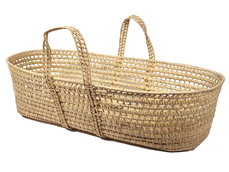 Organic Moses Basket - Little Merry Fellows Baby Moses Basket