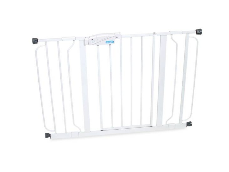 3 Regalo Easy Step Walk Thru Gate, White, Fits Spaces between 29 and 39 Wide