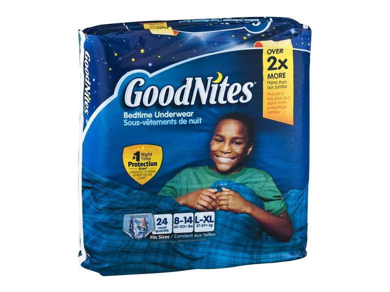 GoodNites Bedtime Underwear, Boys L-XL 24 CT, best overnight diapers