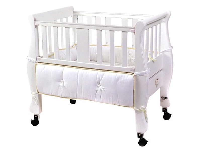 Arms Reach Concepts Inc. Co-Sleeper Sleigh Bed - White