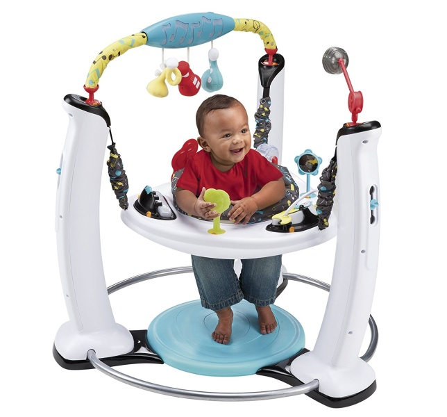 Evenflo ExerSaucer Jump and Learn Stationery Jumpers, Jam Session