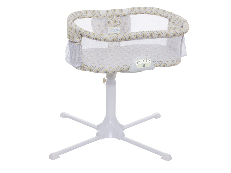 Halo Bassinet Swivel Sleeper Bassinet, Luxe Series, Lemon Drop