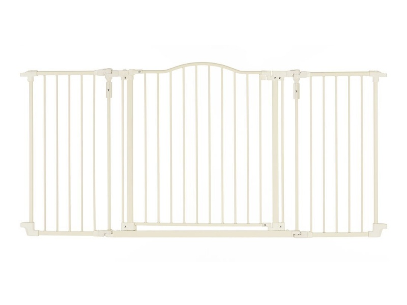 North States Supergate Deluxe Décor Metal Gate, Linen, Hardware Mount