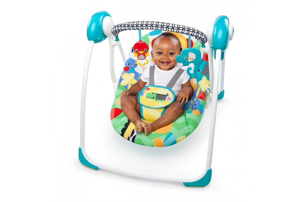 Bright Starts Safari Smiles - Best Portable Baby Swing