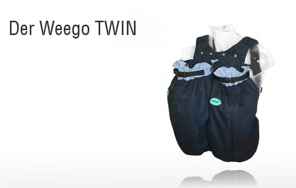 Weego Twin Navy Blue Baby Carrier