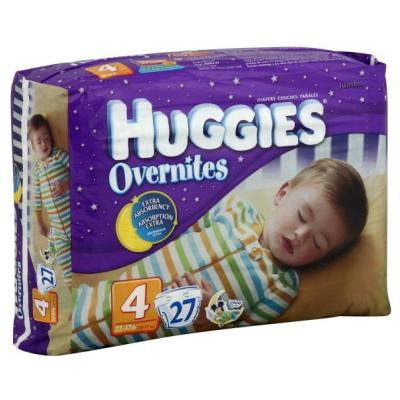 Huggies Overnites Diapers, Size 4