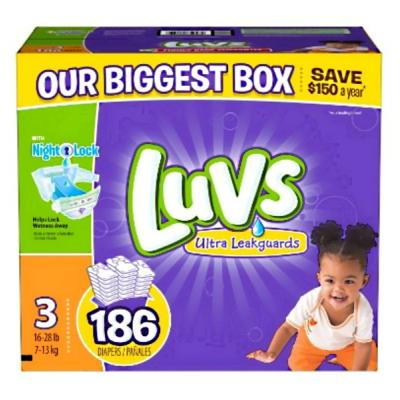 Luvs diapers, size 3, 186-count
