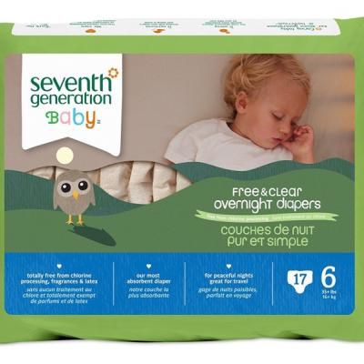 Seventh Generation Baby Free & Clear Overnight Diapers, Stage 6