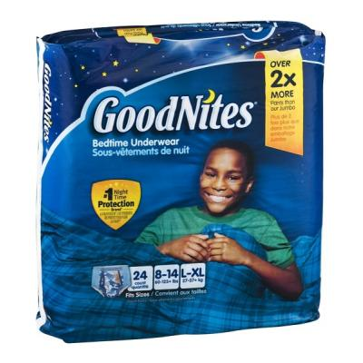 GoodNites Bedtime Underwear, Boys L-XL 24 CT