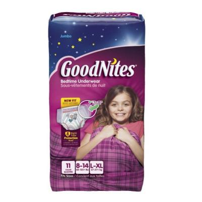GoodNites Bedtime Pants Jumbo, Girls Large/XL