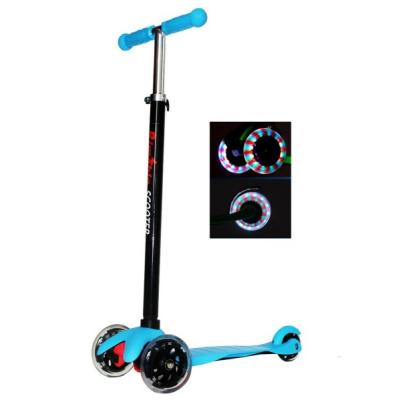 Rimable Kids 3 Wheel Adjustable Height Mini Kick Scooter with LED Light Up
