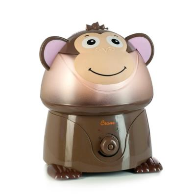 Crane Adorable Ultrasonic Cool Mist Humidifier with 2.1 Gallon Output per Day - Monkey