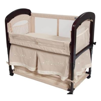 Arm's Reach Cambria Co-Sleeper with Embroidered Skirt