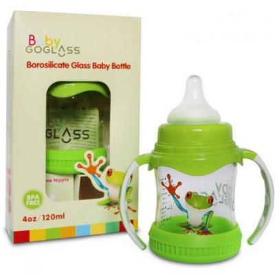 GoGlass Borosilicate Glass Baby Bottle
