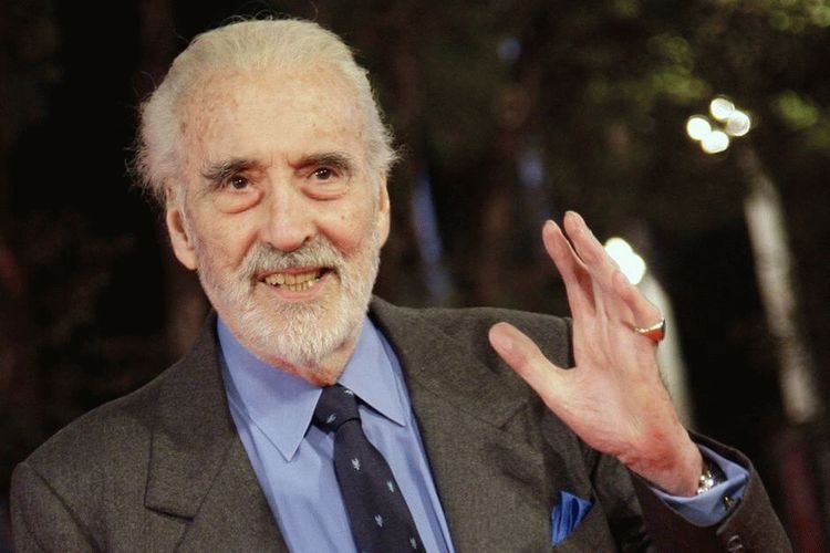 Christopher Lee, English actor