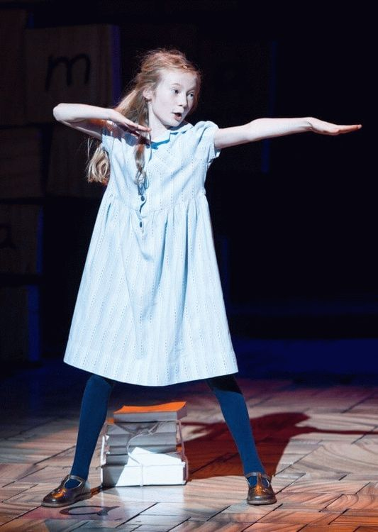 Violet Tucker, child star in the West End musical Matilda